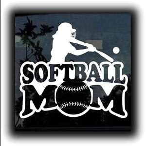 Softball Mom Car Window Decal a1