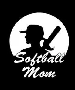Softball Mom Car Window Decal a2