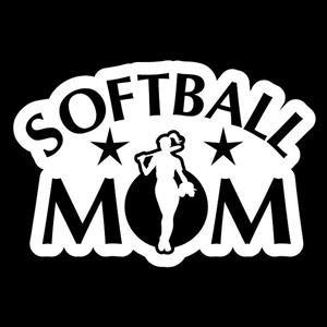 Softball Mom Car Window Decal a3