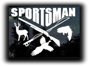 Sportsman Hunting Fishing Decals