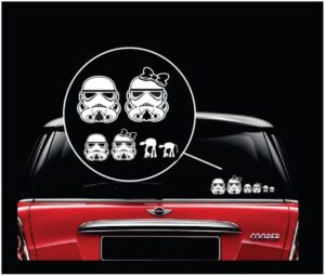 star wars storm trooper family window decal sticker