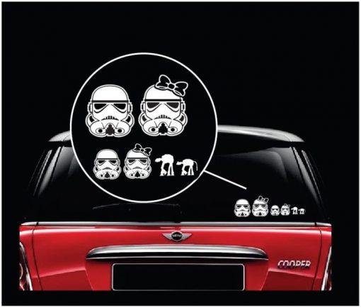 star wars storm trooper family window decal sticker