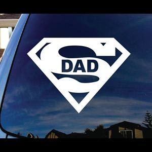 Superdad Superman Window Decals - https://customstickershop.us/product-category/stickers-for-cars/