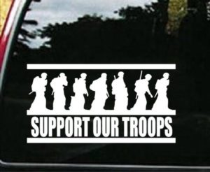 Support Our Troops 2 Window decal
