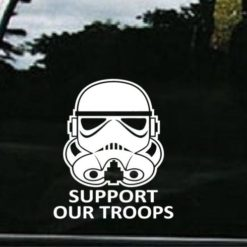 Support Our Troops Storm Trooper Decal