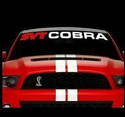 Vinyl Windshield Banner Decal Stickers Fits Mustang SVT Cobra