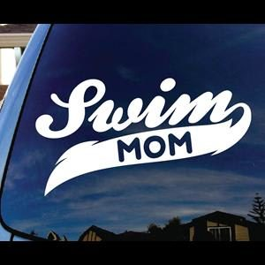 Swim Mom Car Window Decal a2