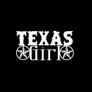 Texas Girl Window Decals