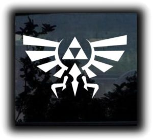 Tri Force Legend Decal Sticker - https://customstickershop.us/product-category/stickers-for-cars/