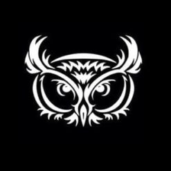 Owl Tribal Car Window Decal
