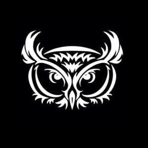 Owl Tribal Car Window Decal