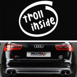 Troll Inside Funny Decal Sticker - https://customstickershop.us/product-category/stickers-for-cars/