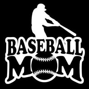 Baseball Mom Sports Window Decals