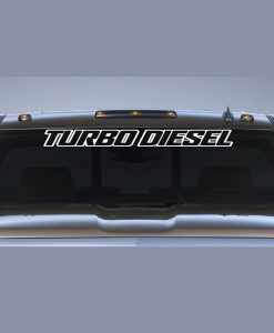 Ford Turbo Diesel II Windshield Decal - //customstickershop.us/product-category/windshield-decals/