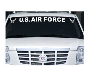 US Air force Vinyl Window Decal Stickers
