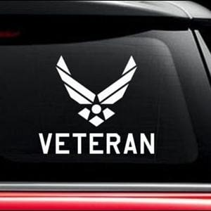 US AIR FORCE VIETNAM VETERAN MILITARY AIRMAN DECAL STICKER CAR TRUCK WINDOW