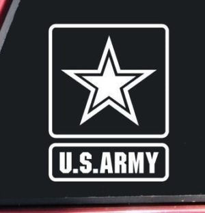 US Army Window Decal Sticke