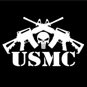 Punisher USMC AR AK Window Decal - https://customstickershop.us/product-category/army-navy-marines-decals/