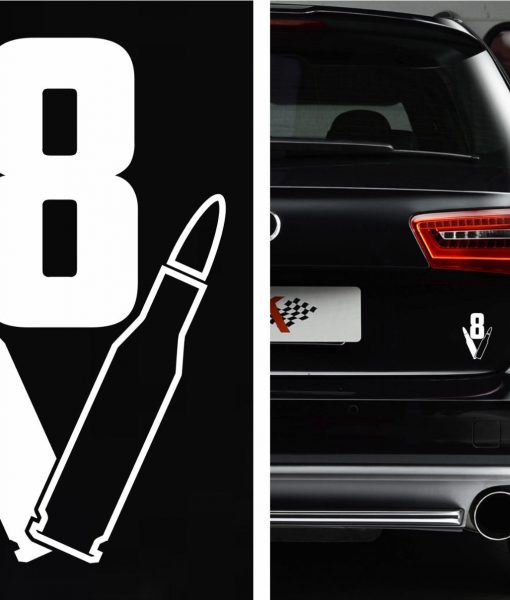 V8 bullet car decal sticker http customstickershop us product