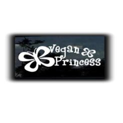 Vegan Princess Decal Sticker - https://customstickershop.us/product-category/stickers-for-cars/