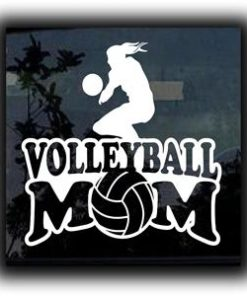Volleyball Mom Car Window Decal a1