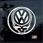 VW Volkswagen Skull JDM Car Window Decal Stickers