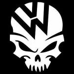VW Volkswagen Skull A1 JDM Car Window Decal Stickers