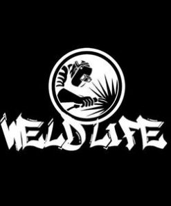 Weld Life Spark Window Decal