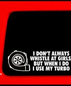 Turbo Whistle Truck Stickers