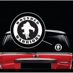 Wounded Warriors Round Vinyl Military Window Decal Stickers