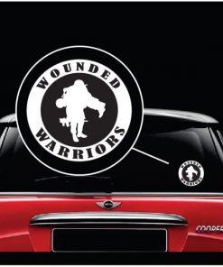 wounded warrior round window decal sticker
