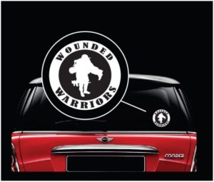 wounded warrior round window decal sticker