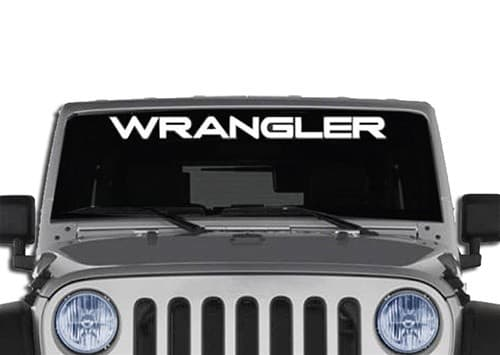 Jeep wrangler windshield decals
