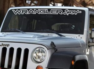 Jeep Wrangler Sport Windshield Decal - https://customstickershop.us/product-category/windshield-decals/