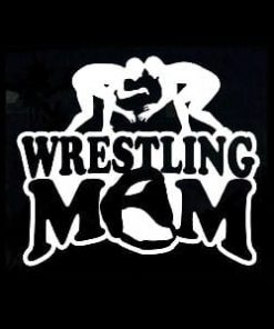 Wrestling Mom Car Window Decal a1