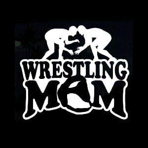 Wrestling Mom Car Window Decal a1