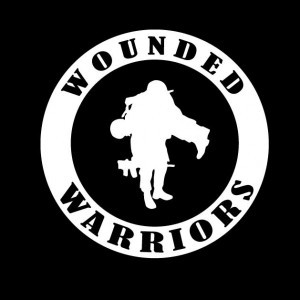 Wounded Warriors Round Military Vinyl Decal Sticker