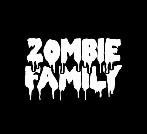 Zombie Family Zombie Stickers
