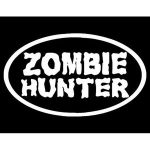 Zombie Hunter Oval Window Decals - https://customstickershop.us/product-category/zombie-stickers/