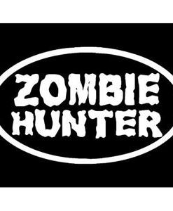 Zombie Hunter Oval Window Decals - //customstickershop.us/product-category/zombie-stickers/