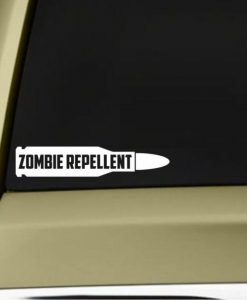 Zombie Repellent Bullet Decal - https://customstickershop.us/product-category/stickers-for-cars/