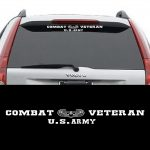 Army Combat Veteran Vinyl Window  Decal Sticker