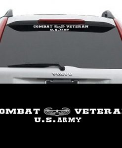 Army Combat Veteran Window Decal