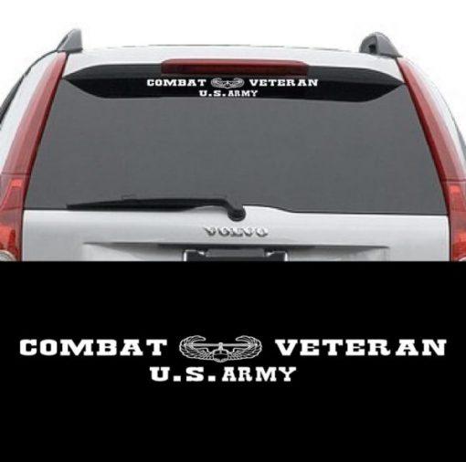 Army Combat Veteran Window Decal