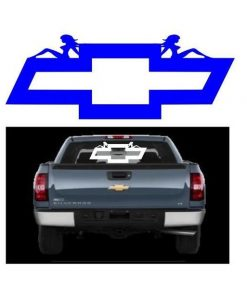 Chevy Bowtie Mudflap Girl Decal