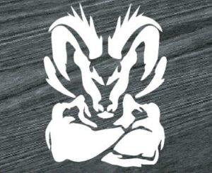 Muscle Dodge Ram Head Decal sticker