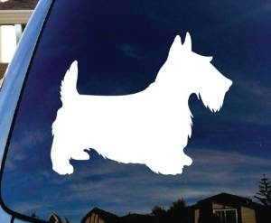 Scottie Dog Window Decals