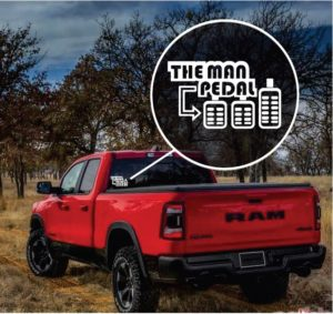 The man Pedal Decal Sticker a2