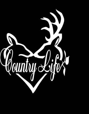 country life buck decal sticker