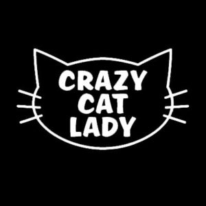 Crazy Cat Lady Window Decals